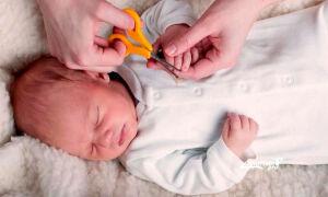 Как подстричь ногти новорожденному правильно без слез