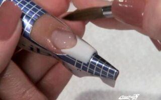 Наращивание ногтей гелем на формах в домашних условиях — пошаговая инструкция, фото, видео