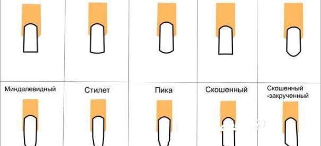 Какие бывают формы ногтей и как сделать форму ногтей пилкой